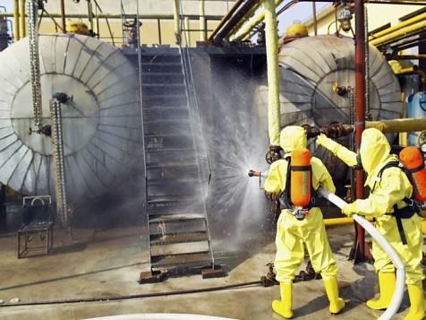 Bombers emergència química